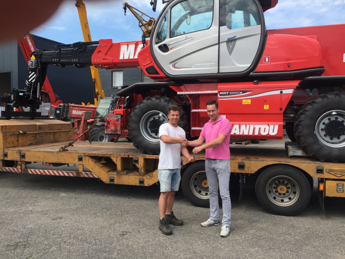 New Manitou MRT 2550 deliverd